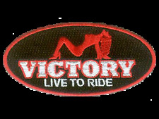 """Victory motorcycle 4"""" exotic oval logo patch.NICE!!NEW"""