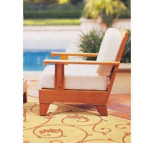 Caranas A-Grade Teak Wood Deep Seater Sofa Lounge Chair Outdoor Garden Patio New
