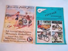 1986 & 1987 MOTOR CYCLE MAGAZINES & 2001 MID AMERICA MOTORCYCLE AUCTIONS - BN-12