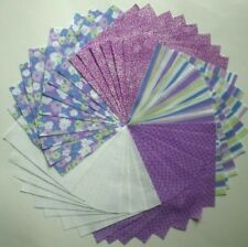 """40 - 5"""" Purple Quilt Fabric Squares Sewing Charm Pack Quilt Blocks 383"""