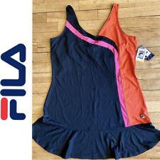 Nwt Fila Tennis Dress sz Large Navy/Pink/Orange Flip Skirt Orig $70+tax