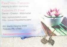 """PawPrints Patterns ~ Pewter """"Made With Love"""" Earrings"""