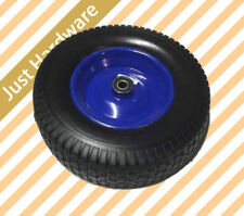 "16"" 400mm Barrow Wheel Tyre Metal rim Puncture proof solid 6.50 x 8 No air"