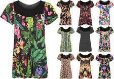 Polyester Short Sleeve Tunic Machine Washable Tops & Blouses for Women