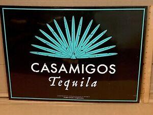 "CASAMIGOS Tequila Metal 18X24"" Sign Black/Teal Advertisement Liquor Alcohol Bar"