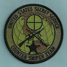 U.S. SECRET SERVICE COUNTER SNIPER TEAM POLICE PATCH GREEN