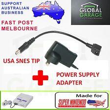 Super Nintendo Power Supply Adapter Cable for American US SNES Virtual Boy + PSU