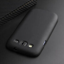 For Samsung Galaxy S3 SIII i9300 Black Matte Silicone Case Cover