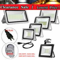 PIR Motion Sensor LED Flood Light 100W 50W 30W 20/10W US Plug Outdoor Spotlight
