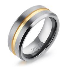 Men Matte Finish Tungsten Carbide Ring Husband Wedding Anniversary Band Size Q-y 10