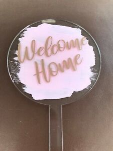Personalised Birthday cake topper - acrylic paddle ready to use cake topper/pick