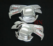 CHROME HANDLE 4 DOOR INSERT BOWL FOR TOYOTA HILUX VIGO/CHAMP SR5 MK6 2005-2014
