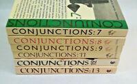 CONJUNCTIONS Book Lot of 6 - Vols. 7-9 & 10-13 Bradford Morrow William Burroughs