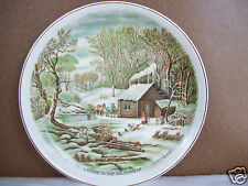 "Currier & Ives Decorative 6"" Plate ""A Home In The Wilderness"". A"