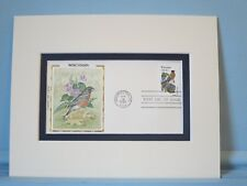 State Bird & Flower - Wisconsin- Robin & Wood Violet & First Day Cover