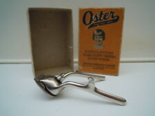 Vintage Hair Hand Clippers Oster No. 00 Style-E Barber Deco Metal W/Box USA