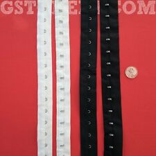 "1"" White/Black Cotton Hook and Eye Loop Tape   # 04"