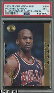 1995-96 SP Championship Shots Gold Die-Cut Michael Jordan HOF PSA 9 MINT