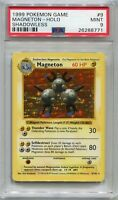 Pokemon Card Unlimited Shadowless Magneton Base Set 9/102, PSA 9 Mint