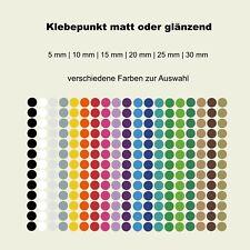 Klebepunkte Kreise Folie farbig rund Aufkleber matt oder glänzend NEU