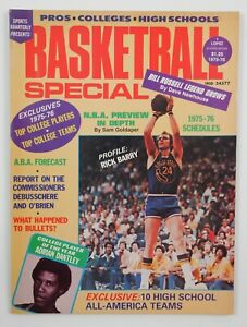 1975-76 NBA Pro College Basketball Special Vintage Magazine Rick Barry Cover