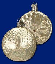 Sand Dollar Old World Christmas Glass Nautical Sea Life Theme Ornament Nwt 12156
