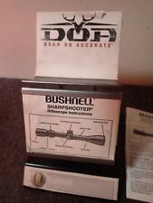 Vintage Bushnell Sharpshooter DOA Rifle Scope Stand Metal Retail Display