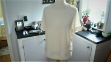 New H & M Cream Silver Tunic Top size 20