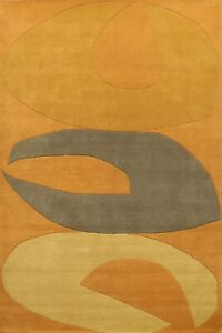 Geometric Oriental Area Rug Wool/ Silk Hand-Tufted Living Room Carpet 8'x10'