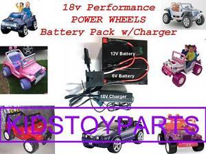 18V Volt Battery Pack Kit w/Charger for 12v Power Wheels Cars ***Longer Run Time