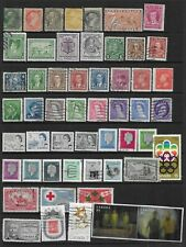 Collection of unsorted mixed used Canada stamps.