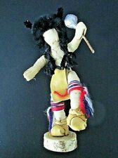 Vintage Hand Made Buffalo Dancer Corn Husk Kachina Doll