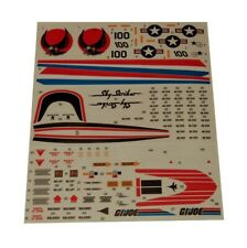 GI Joe Skystriker Sky Striker XP-14F Combat Jet Sticker Decal Sheet