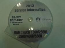 2012 DODGE RAM TRUCK 1500 2500 3500 4500 5500 Service Shop Repair Manual CD NEW