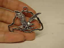 10 Large eagle pendants charms antique tibetan silver  wholesale uk