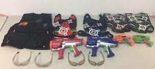 Nerf Dart Tag Lot Guns Vests Glasses Hyperfire Strikefire Green Orange Blue Red