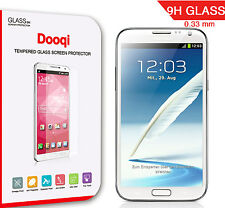 2X Dooqi Tempered Glass Screen Protector for Samsung Galaxy Note 2  II (N7100)