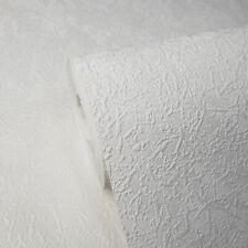 Embossed Wallpaper White Modern Plain Wallcoverings rolls faux plaster Textured
