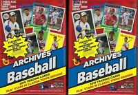 (2) 2019 Topps ARCHIVES Baseball MLB Baseball Cards 7+1 BonusPack BLASTER Bx LOT
