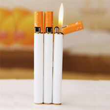 Novelty Jet Flame Cigarette Shaped Refillable Butane Windproof Gas Lighter LJU