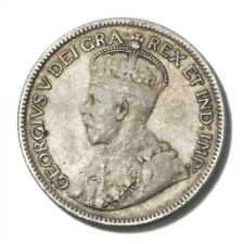 Canada King George V 25 Cents 1935  Very Fine KM-24a