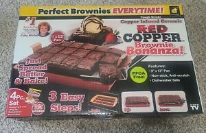 Red Copper Non Stick Copper Infused Brownie Maker (NEW Sealed)