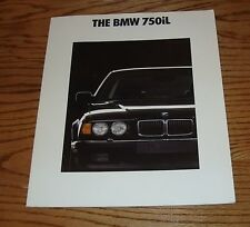 Original 1991 BMW 750iL Deluxe Sales Brochure 91