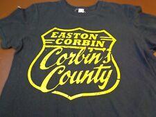 Easton Corbin Corbin's Country T Shirt Black  Small  Tee   D0