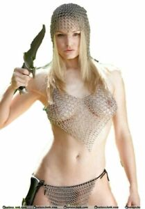 CHRISTMAS Chainmail Pantie Clothing Viking Aluminum Chain Mail Pantie Sexy