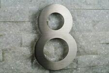 Hausnummer 8 Edelstahl V2A H20cm ITC-Bauhaus-2D  0 1 2 3 4 5 6 7 8 9 a b c d e