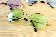 Colorful Women Retro Round Glasses Lens Sunglasses Eyewear Plastic Frame Glasses Green