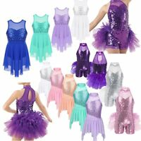 Child Girls Jazz Latin Lyrical Dance Wear Ballroom Dancing Dress Show Costumes