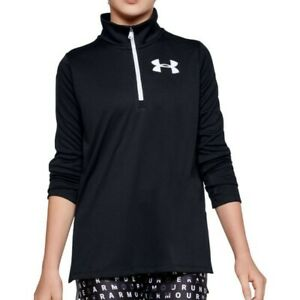 Junior Girls Under Armour 'Tech' ½ Zip Long Sleeve Top Size YMD 10-12Y