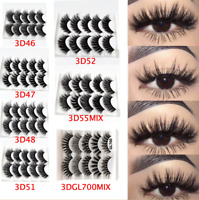 HQ 5 Pairs 3D Fake Eyelashes Long Thick Natural False Eye Lashes Set Mink Makeup